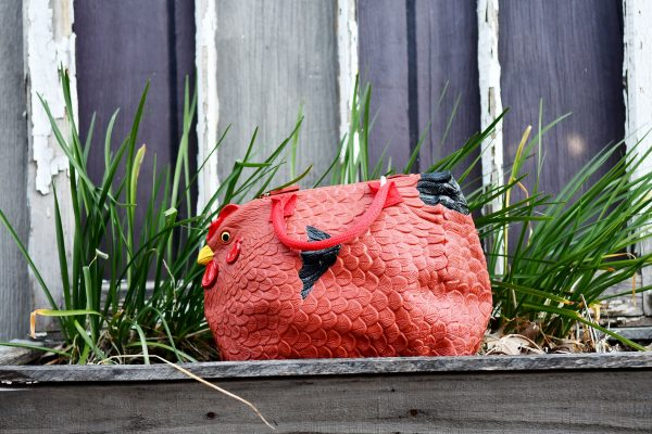 rubber chicken purse hen bag handbag