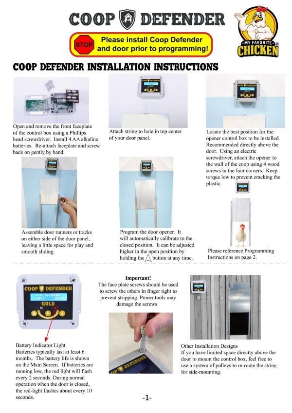 Coop Defender Instructions 1