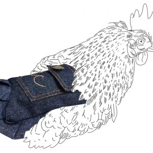 denim hen saddle