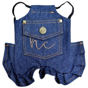 Denim hen saddle apron