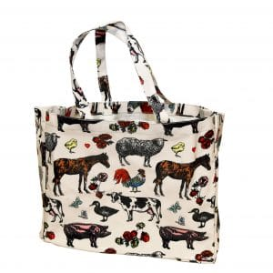farm animal tote bag