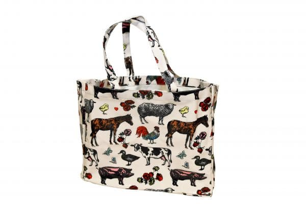 farm animal tote bag